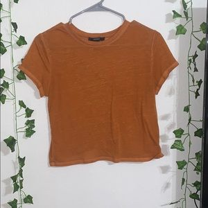Forever 21 cropped orange t-shirt